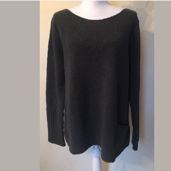 80% off Eileen Fisher Sweaters - Eileen Fisher Dark Olive Green ...